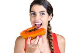 Propiedades en la dieta de la papaya